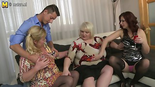Mature ladies take a cock